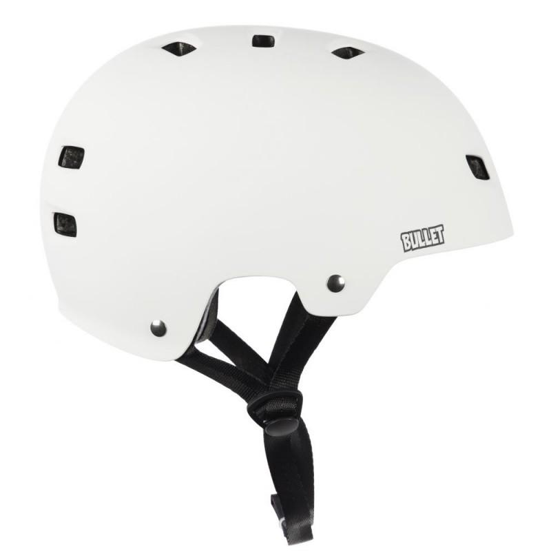 Matte White Bullet Deluxe Casco di protezione