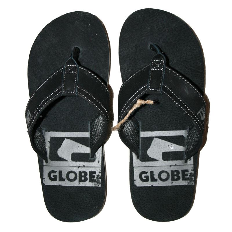 Globe base Black Pelle Sandali Infradito