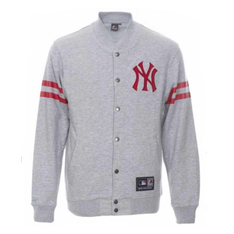 new styles c88f4 ec1c7 Giacca Majestic Roper Fleece Letterman Jacket New York ...