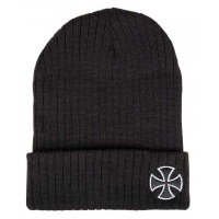 independent_beanie_cross_ribbed_black