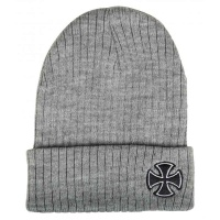 independent_beanie_cross_ribbed_heather_grey