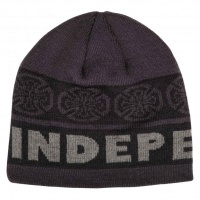 independent_beanie_woven_crosses_black_grey_1