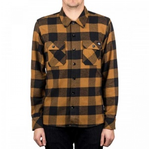 dickies_sacramento_ls_shirt_brown_duck_3