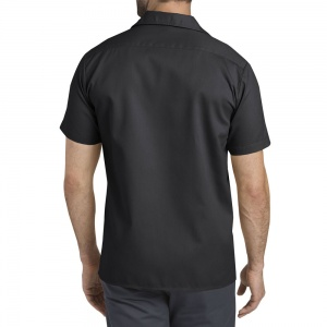 dickies_short_sleeve_slim_work_shirt_black_2