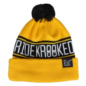 krooked_get_it_straight_pom_beanie_yellow_black_1