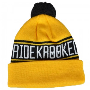 krooked_get_it_straight_pom_beanie_yellow_black_2