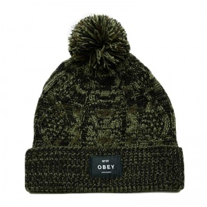 obey_freja_cable_pom_beanie_forest_army_1