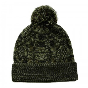 obey_freja_cable_pom_beanie_forest_army_2