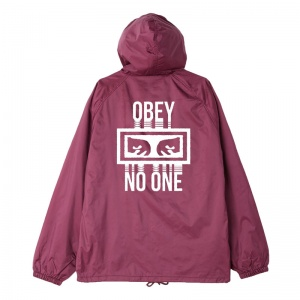 obey_no_one_hooded_snap_coaches_jacket_raspberry_1