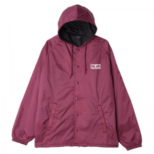 obey_no_one_hooded_snap_coaches_jacket_raspberry_2