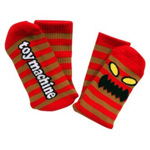 toy_machine_socks_monster_stripe_brown_red_4